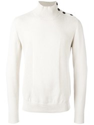 Paolo Pecora Button Detailing Jumper White