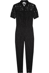 Iris And Ink Brooke Cotton Blend Lace Jumpsuit Black