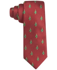 Club Room Men's Christmas Tree Neat Tie Only At Macy's Red