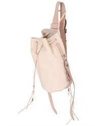 Barbara Bonner Ellie Snake Embossed Leather Backpack