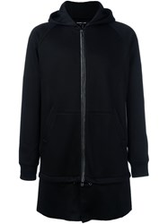 Helmut Lang Long Zipped Hoodie Black