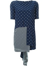 Antonio Marras Contrast Panel Shortsleeved Top Blue