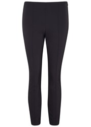 The Row Cosso Midnight Blue Cropped Trousers Navy