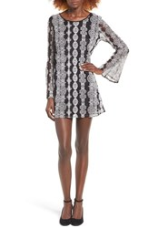 Band Of Gypsies Women's Geometric Lace Dress