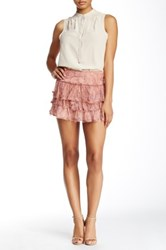Zadig And Voltaire Eglane Deluxe Printed Silk Skirt Pink