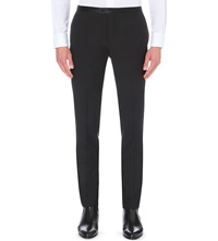 J. Lindeberg Satin Trim Wool Tuxedo Trousers Black