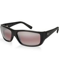 Maui Jim Sunglasses Maui Jim123 Wassup 61P Black Shiny Pink Mir Pol