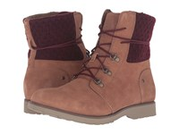 The North Face Ballard Lace Ii Mm Red Knit Dachshund Brown Deep Garnet Red Women's Lace Up Boots