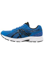 Asics Gelcontend 3 Cushioned Running Shoes Imperial Black Safety Yellow Blue