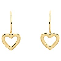Melissa Odabash Gold Plated Hook Heart Drop Earrings Gold