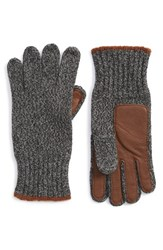 Men's Polo Ralph Lauren Merino Wool Blend Gloves Black Greygarth