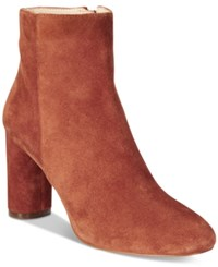 Inc International Concepts Women's Taytee Block Heel Booties Only At Macy's Women's Shoes Spiced Orange