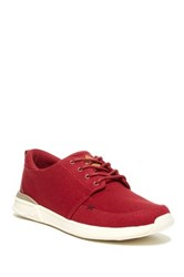 Reef Rover Low Lace Up Sneaker Red