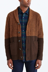 Obey Holden Shawl Cardigan Brown