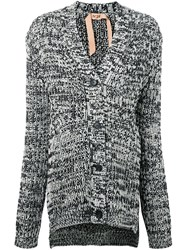 N 21 No21 V Neck Cardigan Black