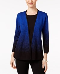 Alfred Dunner Layered Look Ombre Sweater Blue