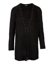 Morgan Longline Studded Cardigan Black
