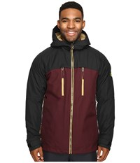 686 Authentic Smarty Automatic Jacket Black Ruby Color Block Men's Coat Red