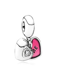 Pandora Design Pandora Dangle Charm Sterling Silver Enamel And Cubic Zirconia You And Me Moments Collection Silver Pink