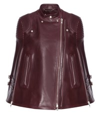Givenchy Leather Cape Red