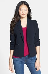 Women's Anne Klein One Button Blazer Midnight Sky