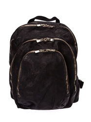 Guidi Multi Zipped Pockets Backpack Black