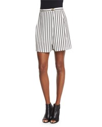 Mcq By Alexander Mcqueen Striped Woven Skort Black White White Blackstripe