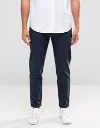 Selected Homme Heavy Twill Chinos Blueberry