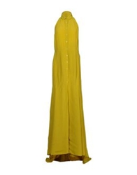 Dirk Bikkembergs Long Dresses Acid Green