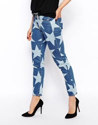 Vivienne Westwood Anglomania Skinny Jeans With All Over Star Print Blue