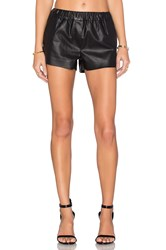 Blank Nyc Faux Leather Short Black
