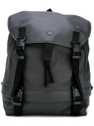 Emporio Armani Logo Plaque Backpack Grey