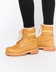 Cat Footwear Caterpillar Colorado Slouch Honey Lace Up Ankle Boots