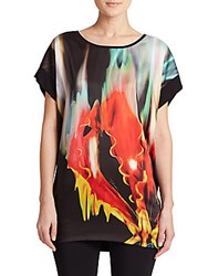 Just Cavalli Fire Print Tunic Black