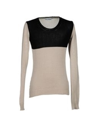 Lo Not Equal Sweaters Beige