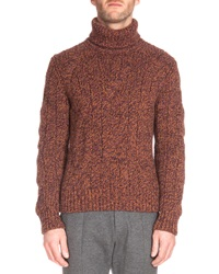 Berluti Speckled Cashmere Turtleneck Sweater Brown