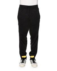 Off White Drawstring Sweatpants W Arrows Black Yellow