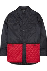 Prada Quilted Felt Paneled Gabardine Jacket Midnight Blue
