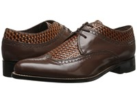 Stacy Adams Dayton Brown Tan Men's Lace Up Wing Tip Shoes