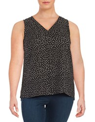 Lord And Taylor Plus Dotted Shell Black