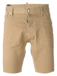 Dsquared2 Denim Shorts Nude And Neutrals
