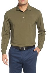 Bobby Jones Men's 'Liquid Cotton' Long Sleeve Jersey Polo Safari