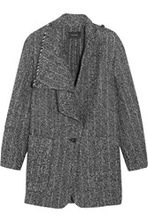 Isabel Marant Hondo Boucle Alpaca Coat Gray