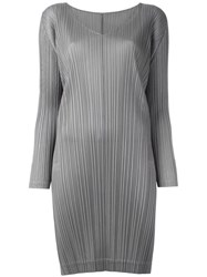 Issey Miyake Pleats Please By Pleated Tunic Grey