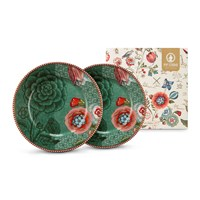 Pip Studio Spring To Life Plates Set Of 2 Green