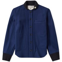Fidelity Wool Baseball Jacket Blue