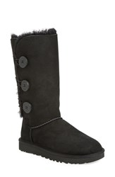 Uggr Women's Ugg 'Bailey Button Triplet Ii' Boot Black Suede