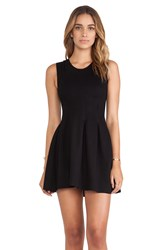 Dolan Inverted Pleat Dress Black