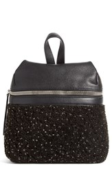 Kara Small Genuine Shearling And Leather Backpack