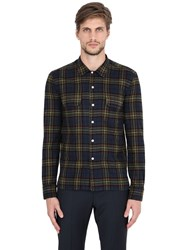 Salvatore Piccolo Plaid Cotton Flannel Shirt